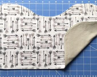 Grey Arrows Burp Cloth