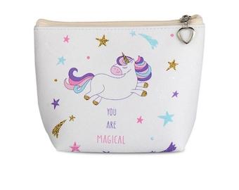 Clutch, purse zipper pouch, wallet, Unicorn, Unicorn, girl, woman accessories