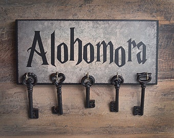 Clearance!!  Alohomora Key Holder.  Ready to Hang.  Great gift item for Harry Potter fans!