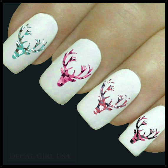 Animal Nail Decal Deer Nail Art 20 Water Slide Decals