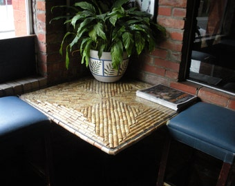 Custom made wine cork table