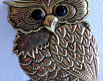 1 x Bronze Tone Owl Charms / Pendants
