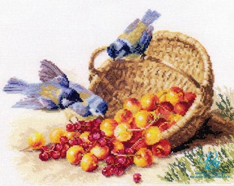 Cross Stitch Kit Flowers / Bouquet/ Fruits/birds/Cherries