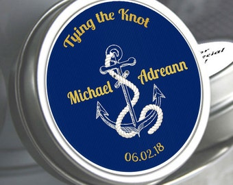 72 Wedding Mint Tin Favors - Anchor Favors - Beach Favors - Nautical - Anchor Wedding Favors - Summer Wedding Favors - Tying the Knot