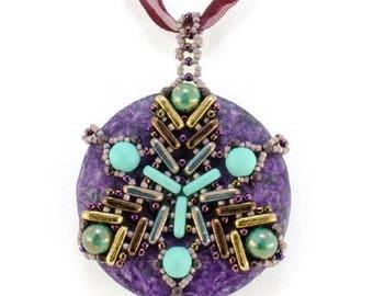 Dreamcatcher Pendant - Big Beaded Pendant Necklace or Ornament - by Hannah Rosner