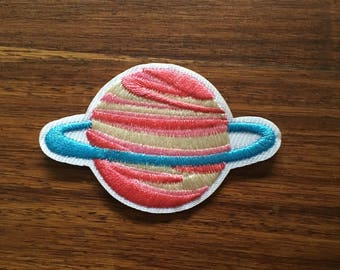 Pink Planet - Iron on Appliqué Patch