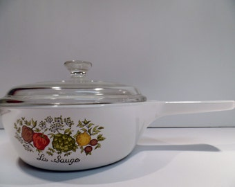 Vintage Corning Ware Spice O' Life Saucepan With Lid - Sauce Pan - Corning Ware - Spice O' Life - Corning - Saucepan - Spice Of Life