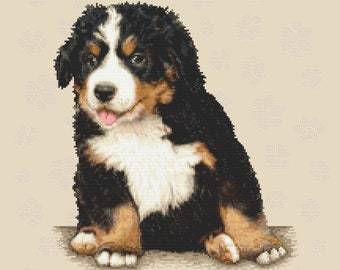 Sweet doggy Stitch Pattern, Digital  Pdf ,Graphics Counted Cross Stitch pattern in PDF  format, Painting,  Easy