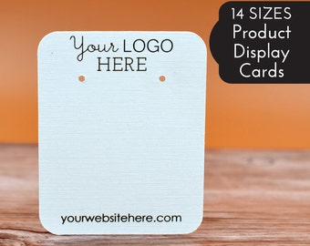 Custom Earring Cards | 14 SIZES | with Your Logo | Packaging | Tags | Label | Display