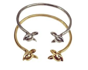 Deer Bracelet      fawn cuff bambi jewelry silver gold