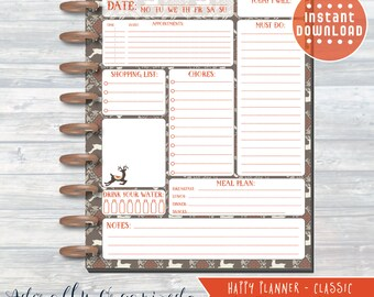 HAPPY PLANNER PRINTABLE Daily Planner Refills / Inserts - 7 x 9.25 | Rustic Christmas | Create 365 | Me & My Big Ideas | mambi | Daily