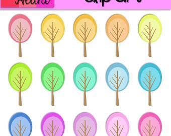 Fancy Trees Clip Art