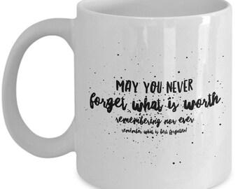 Irish Blessing, May You Never Forget, BFF Gift, Irish Gift, Coffee Mug, Ceramic