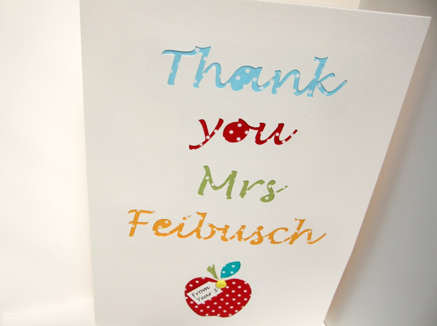 Large Personalised Teacher Thank You Card Big A4 Teacher