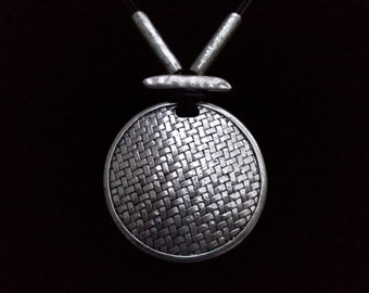 Chunky Silver Necklace Primitive Style in Vintage Jewelry
