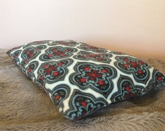 Cat Bed or Small Dog Bed    pillow, fleece, cute, soft, washable, damask, royal, pattern, sophisticated
