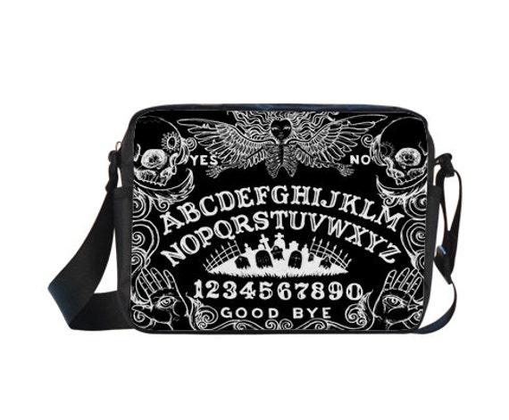 Ouija Board Black Cross-body Nylon Bag