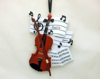 Violin Personalized Christmas Ornament / Music Ornament / Violinist / Musician / Orchestra / String Quartet / Personalized