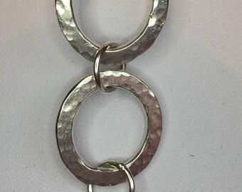 Large Beaten Silver Bracelet