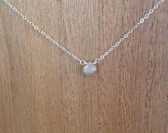 Moonstone necklace/ single moonstone necklace/ delicate moonstone necklace/