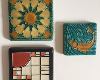 Motawi Tiles Lot M1 B, Frank Lloyd Wright, Tile Collection, Home Decor,