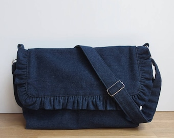 Francie denim - denim shoulder bag