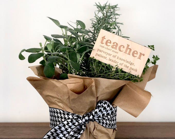 Teacher Ornament & Tag - Acrylic or Wood