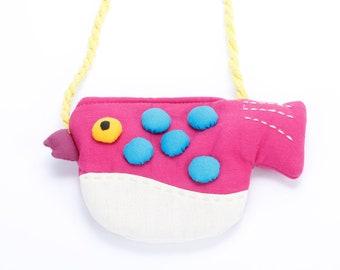 Girls Little Puffer Purse - Raspberry Pink