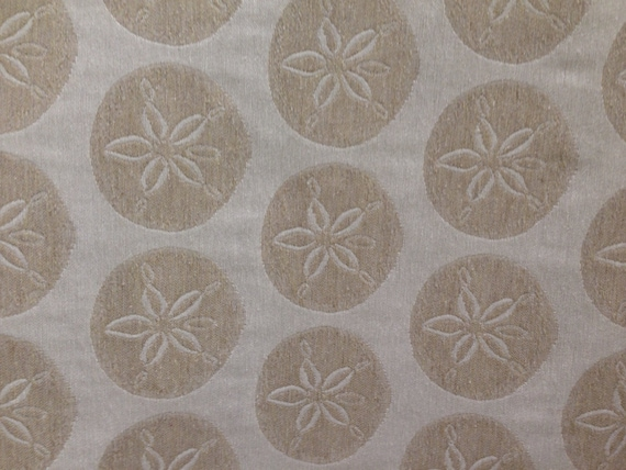 Delightful Natural Linen Color Sand Dollar Upholstery Fabric   Beachy Fabric By The  Yard From ShopMyFabrics On Etsy Studio