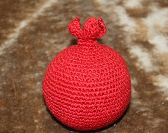 Crochet Vegetables Pomegranate Toy Amigurumi Pomegranate  Sensory Toys Play Food Kitchen Decoration Eco-friendly Toys  Birthday Gifts Fruits