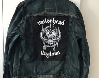 Upcycled Levi's Denim Jacket with Motörhead Backpatch (L)