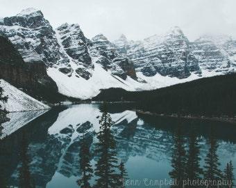 moraine lake. Fine Art Photography print by Bellehibou
