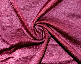 "Shiny Maroon #14 Swimwear Activewear 4 Way Stretch Nylon Spandex Lycra Solid Apparel Cosplay Craft Fabric 56""-58"" Wide By The Yard"