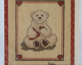 Counted Cross Stitch Pattern | Polar Bear Greeting Card/Chart