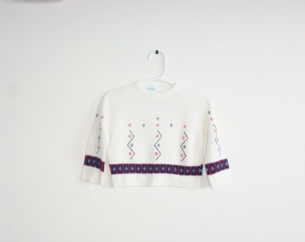 Vintage White Baby Sweater