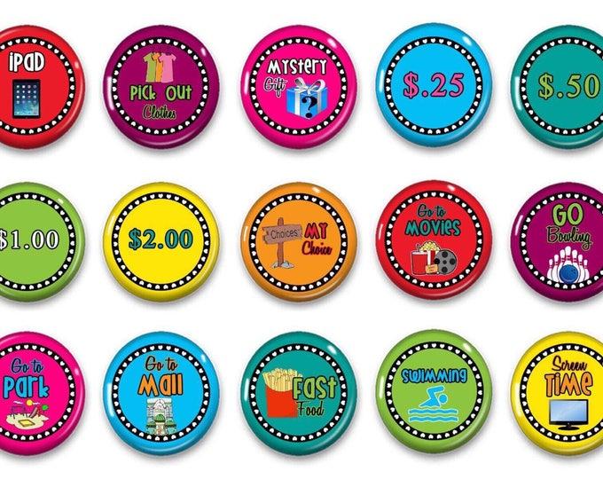 Reward Incentive Magnets - Money magnets - Allowance magnets - Fridge magnets - Refidgerator magnets - Reward Money - Incentive magnets