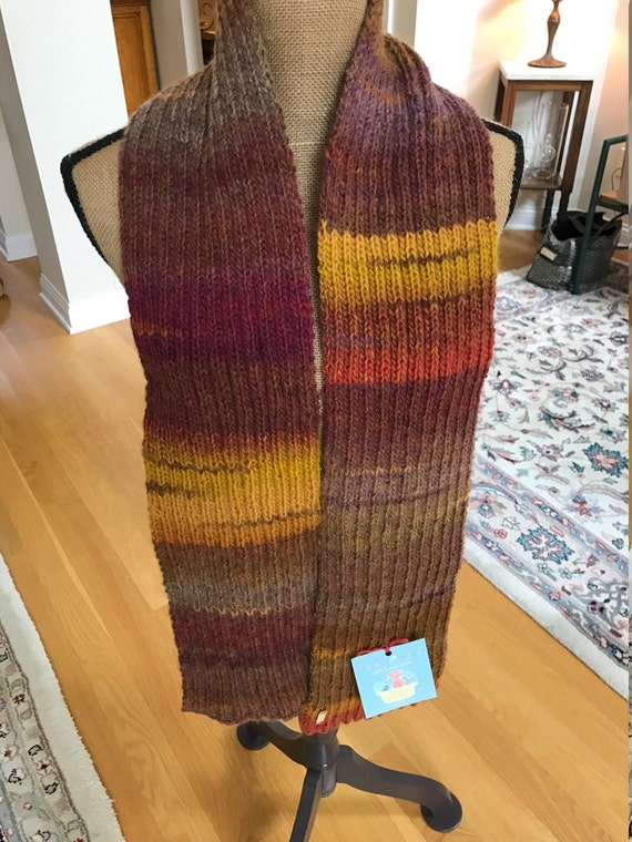 Hand Knit Long Scarf – MESA Amazing Yarn