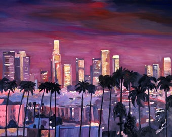 Los Angeles Golden Skyline - Limited Edition Fine Art Print