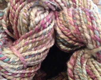 Merino Bamboo Yarn 2 ply Lilac Aqua Cream Beige