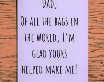 Funny dad card, Dad card, Fathers day, Card for dad, Funny fathers day, Fathers day card, Father card, Handmade card, Funny card,