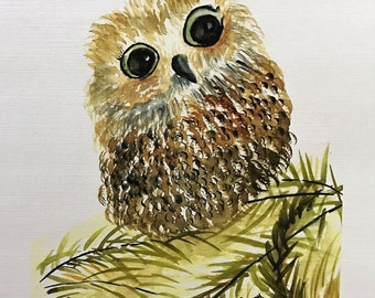 """Watercolor """" Sweet Tweet"""" Limited Edition Numbered  1-10"""