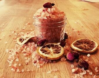 Rose & Lemon Herbal Bath Salts; Love and Negativity Cleansing