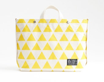 Tote bag with shoulder strap / High quality Japanese canvas / Uroko - Fish scale