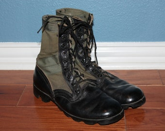 Men's Vintage 80s Ro-Search Military Jungle Spike Protective Combat Boots 10-81 Mcrae 9R