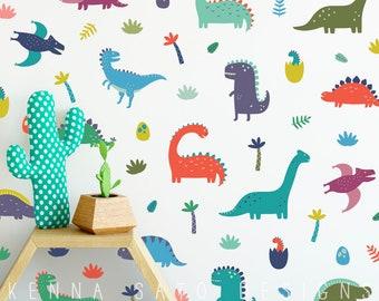 Dinosaur Wall Decals - Wall Decor Dinosaur Decor Nursery Decor Gift for Kid Boys Room Decor Girls Room Decor Reusable Wall Decals  sc 1 st  Etsy & Reusable wall decal   Etsy