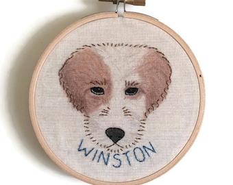 Custom Dog Embroidery, 4 Inch Hoop