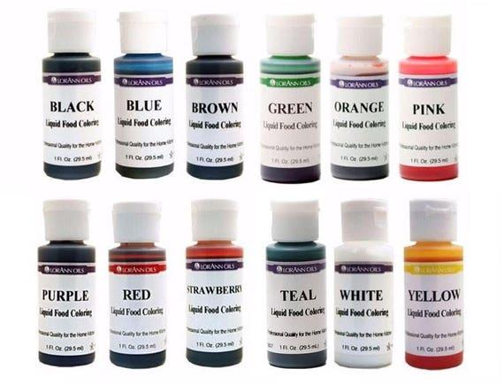 Flüssige Lebensmittelfarbe wählen Sie aus 12 Farben 1 Unze