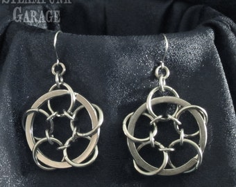 Webs - Stainless chainmaille earrings