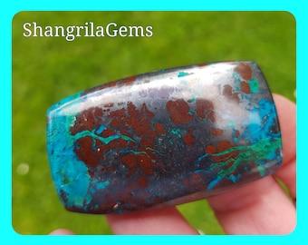 55mm Sonora Sunrise Chrysocolla red turquoise color malachite dioptase hematite 144ct