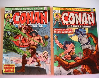 Marvel Comics, Conan the Barbarian, issue #37 April 1974, Issue #38 May 1974, comic books, vintage
